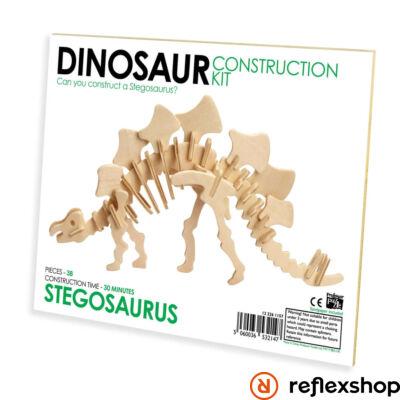 Stegosaurus Professor Puzzle fa építő szett standard