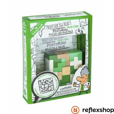 Professor Egg Head's Pentomino Puzzle and Book Pack