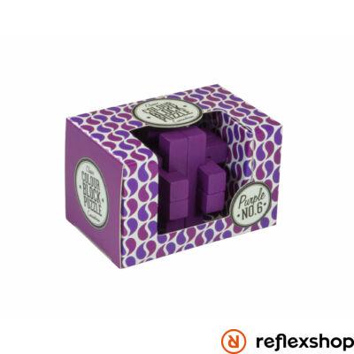 PP színes blokk puzzle lila