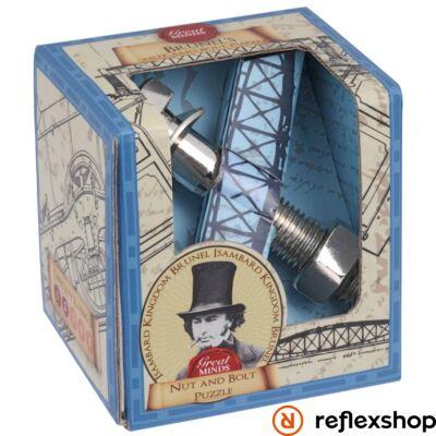 Nagy Elmék - Brunel Anyacsavar Professor Puzzle ördöglakat
