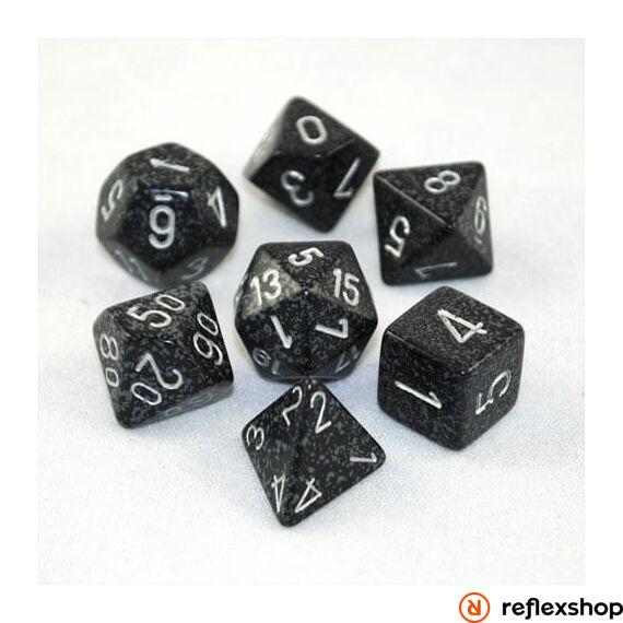 Többoldalú kockaszett (7 kocka), foltos, ninja