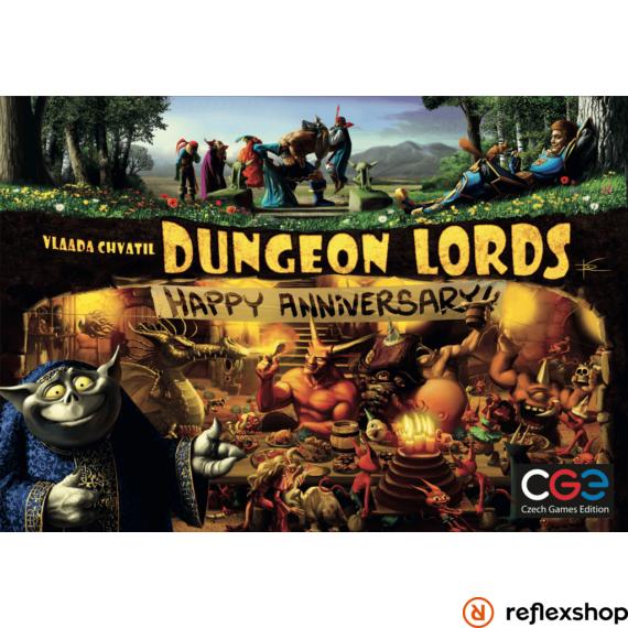 Czech Games Dungeon Lords: Happy Anniversary! angol nyelvű kiegészítő