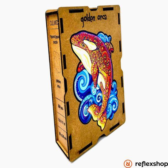 Kardszárnyú Delfin fa puzzle, L méret