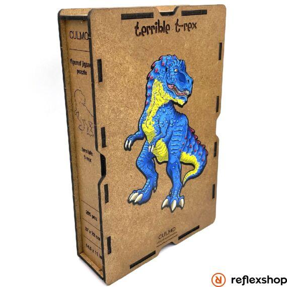 Rémisztő T-Rex fa puzzle, L méret