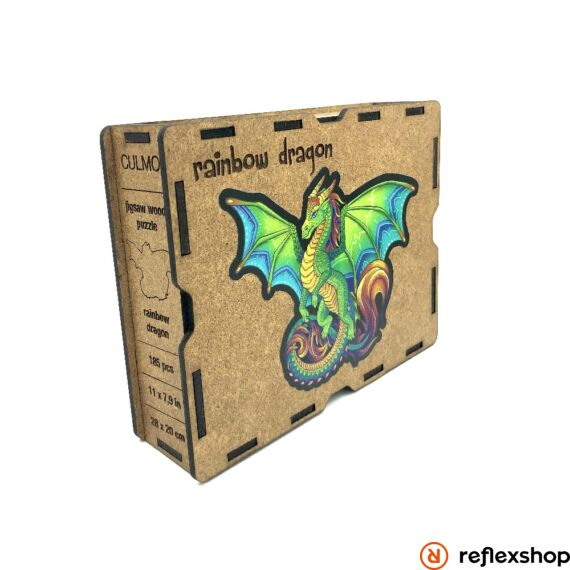 Szivárványos sárkány fa puzzle, S méret