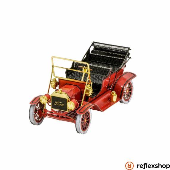 Metal Earth 1908-as piros Ford T-modell - lézervágott acél makettező szett