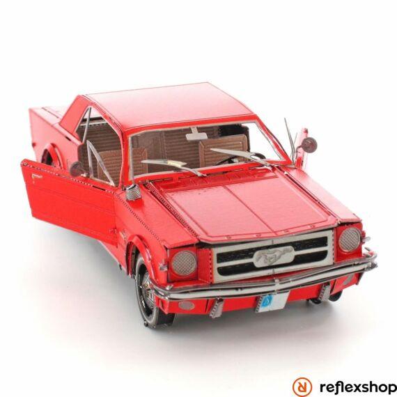 Metal Earth 1965-ös piros Ford Mustang - lézervágott acél makettező szett
