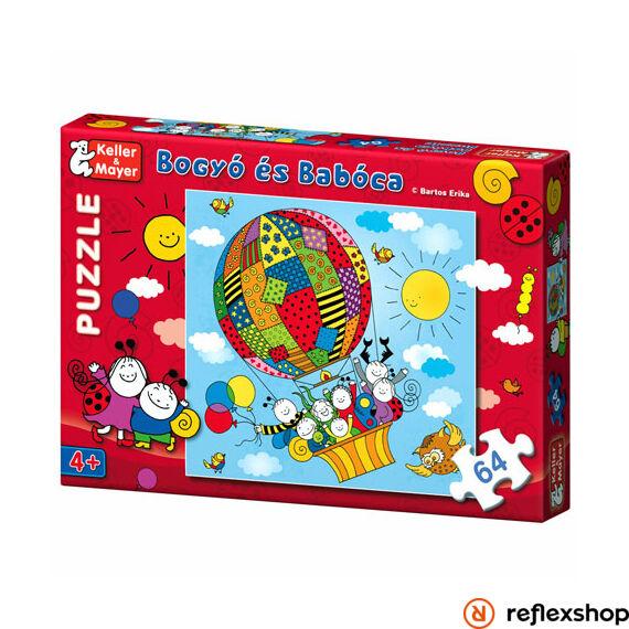 Bogyó és Babóca Puzzle Léghajó társasjáték