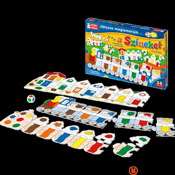 Játszva megismerjük a színeket társasjáték