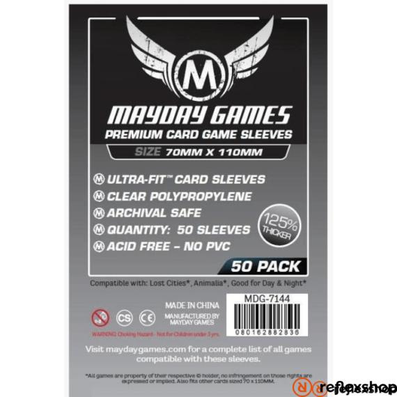Mayday Games Prémium Magnum Silver kártyavédő: 70 x 110 mm