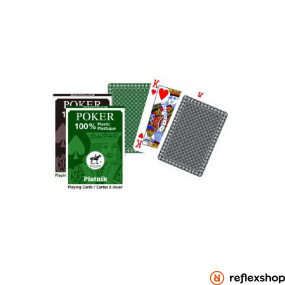 Piatnik plasztik póker kártya (barna/zöld)