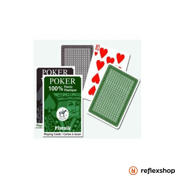 Piatnik plasztik póker kártya lap (barna/zöld)