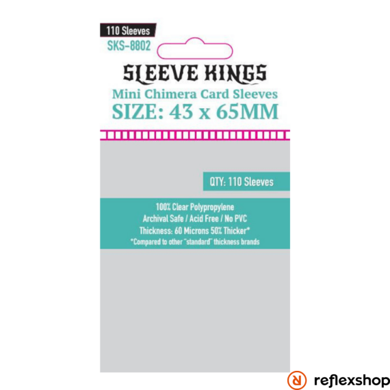 Sleeve Kings mini Chimera kártyavédő (110 db-os csomag) 43 x 65 mm