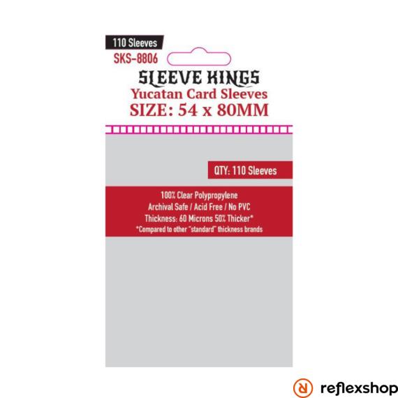 Sleeve Kings Yucatan kártyavédő (110 db-os csomag) 54 x 80 mm