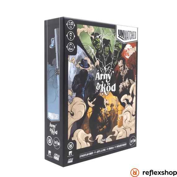 Unmatched: Köd és Árny társasjáték borító