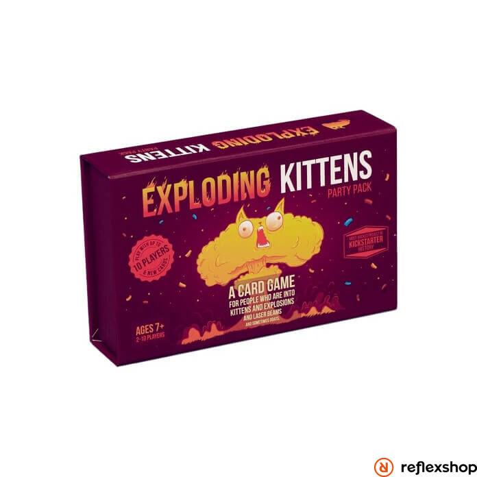 Exploding Kittens Party Pack társasjáték, angol nyelvű