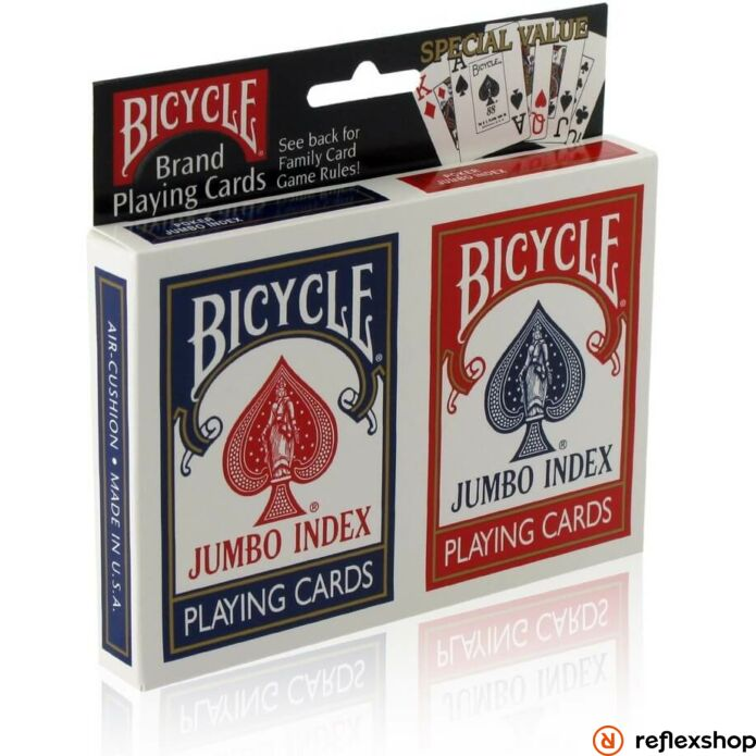 Bicycle Rider Back jumbo index póker kártya dupla