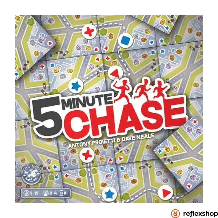 5-minute Chase társasjáték, angol nyelvű