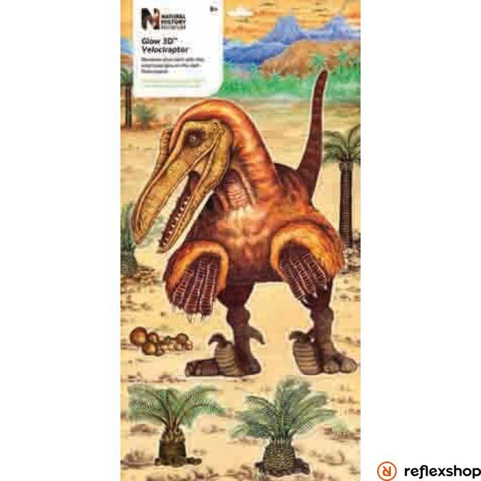 Glow 3D Foszforeszkáló Velociraptor