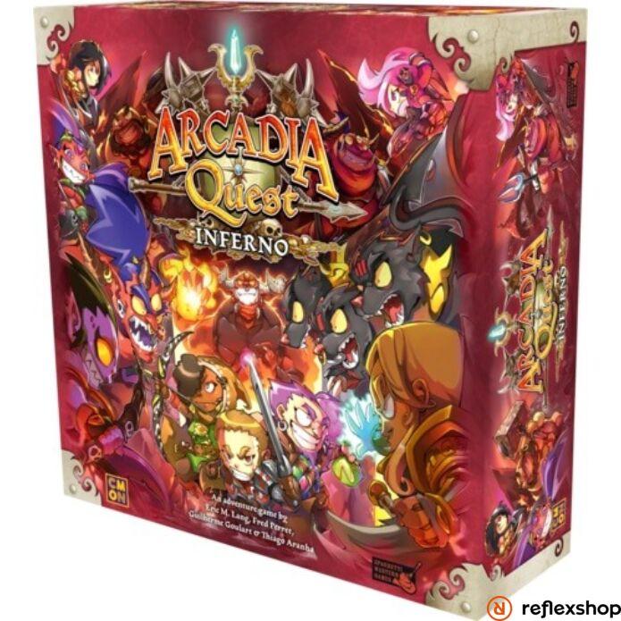 Arcadia Quest Inferno angol nyelvű társasjáték