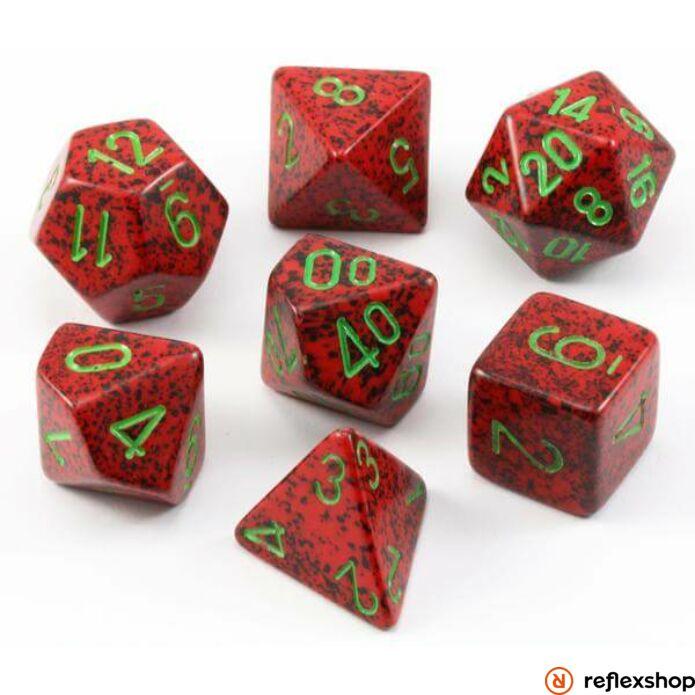 Többoldalú kockaszett (7 kocka), foltos, strawberry