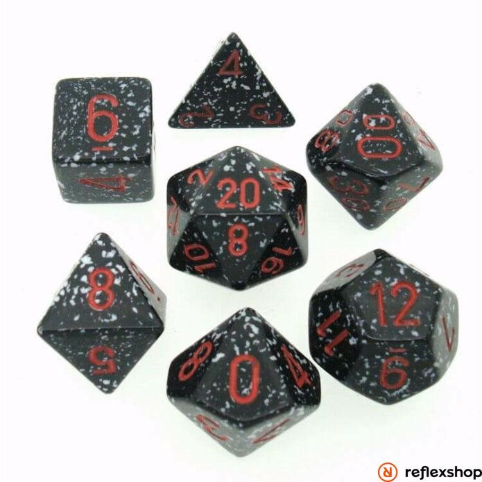 Többoldalú kockaszett (7 kocka), foltos, space