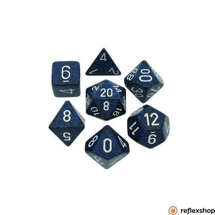 Többoldalú kockaszett (7 kocka), foltos, stealth