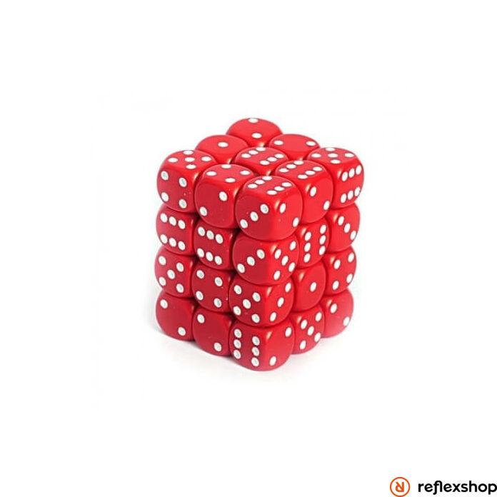 d6 kockablokk, kis kockákkal (36 kocka), piros, fehér pöttyös