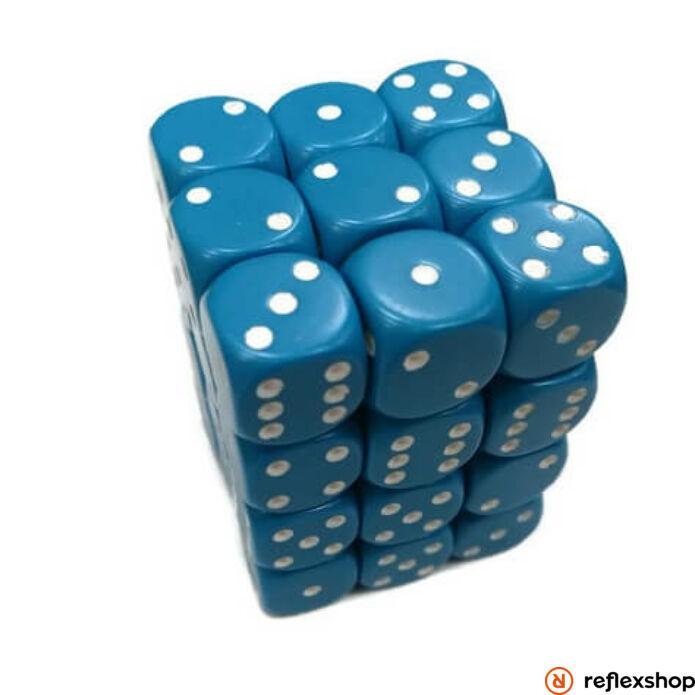 d6 kockablokk, kis kockákkal (36 kocka), kék, fehér pöttyös