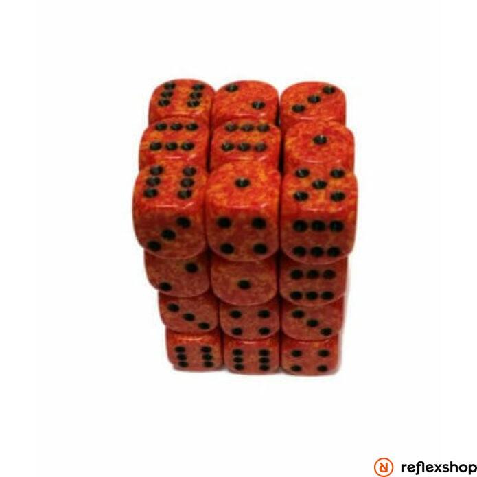 d6 kockablokk, kis kockákkal (36 kocka), foltos, fire