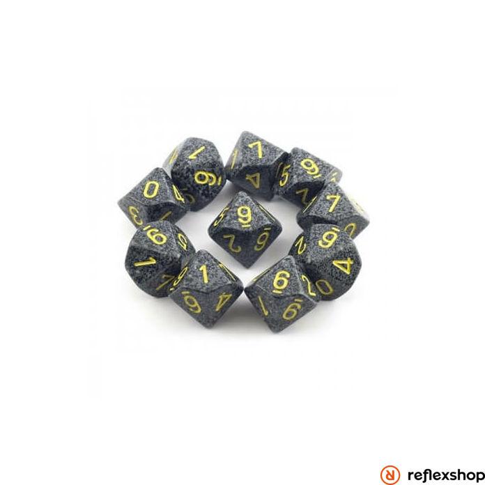 d10 kockaszett (10 kocka), foltos, urban camo
