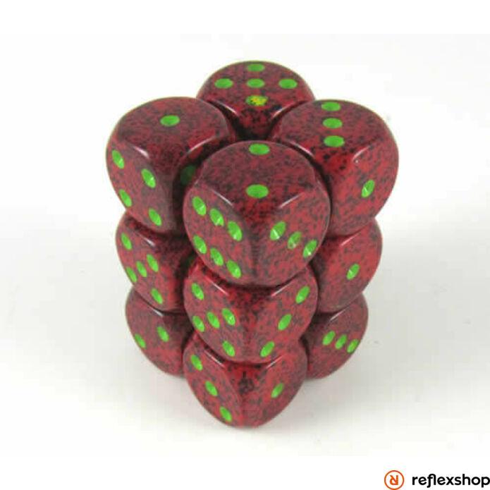 d6 kockablokk (12 kocka), foltos, strawberry