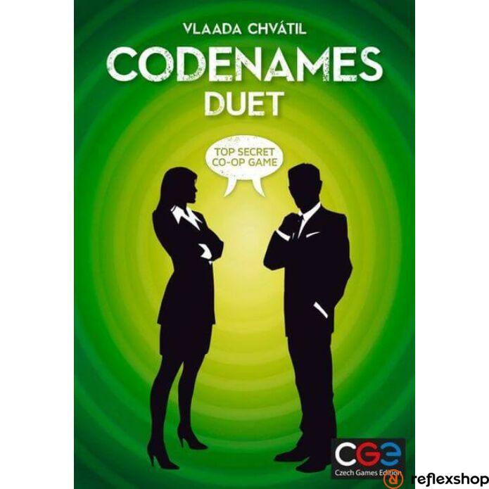 Czech Games Codenames Duet kétszemélyes társasjáték, angol nyelvű