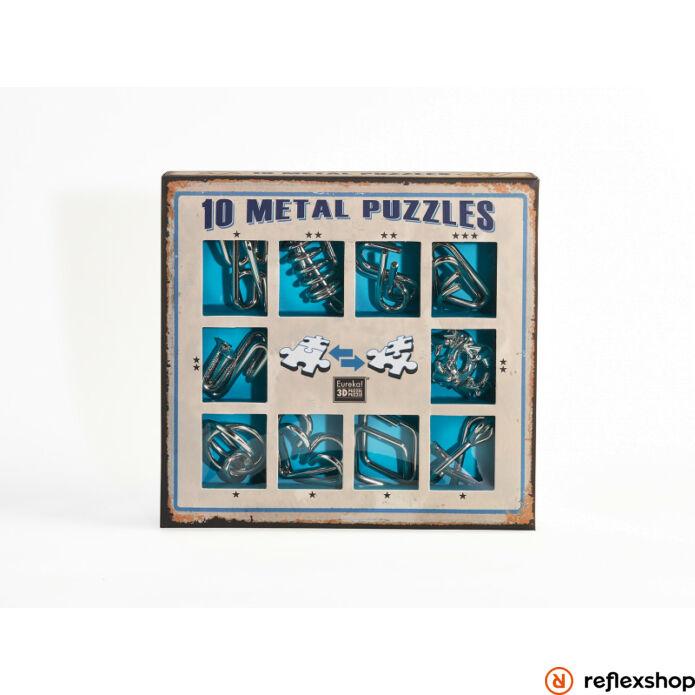 10 Metal Puzzle ördöglakat szett, kék *-***