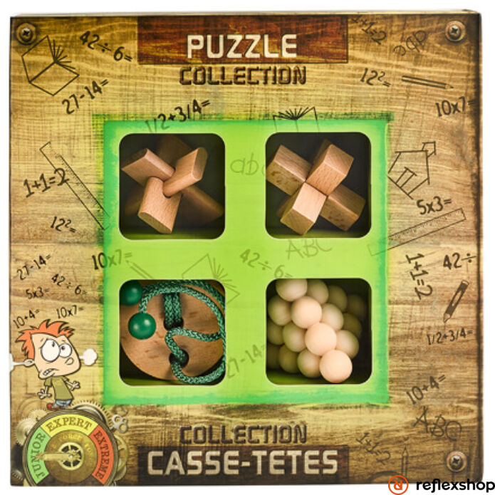 Puzzle collection JUNIOR fa ördöglakat szett