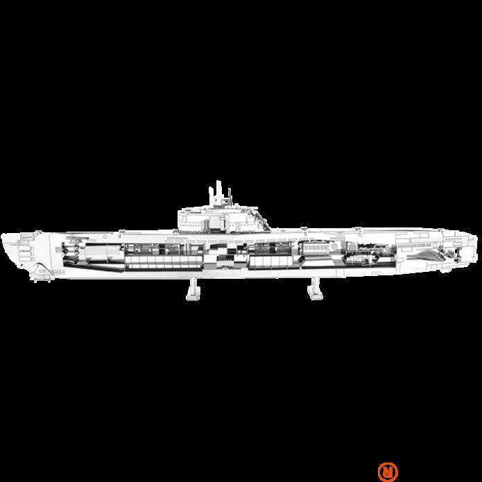 Metal Earth Német U-Boat XXI hajó