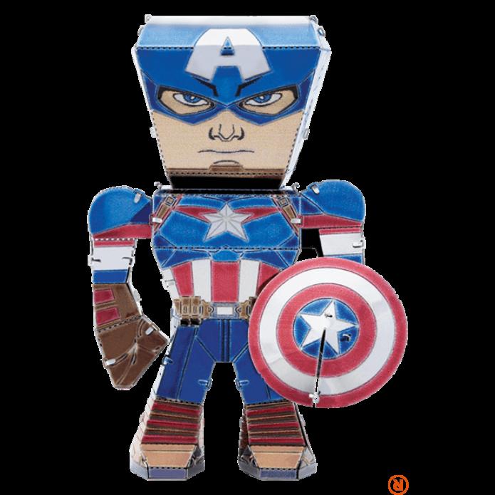 Metal Earth Marvel Bosszúállók - Amerika Kapitány mini modell