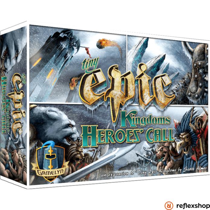 Tiny Epic Kingdoms társasjáték Heroes call kiegészítő