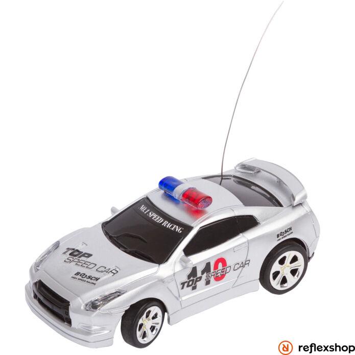 RC Police Mini Racer ezüst távirányítós versenyautó