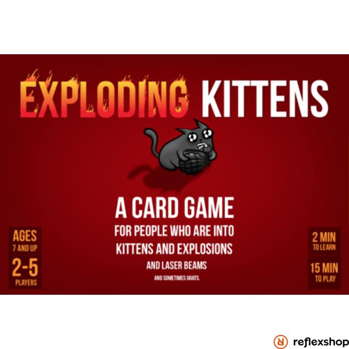 Exploding Kittens társasjáték, angol nyelvű (MEOW)