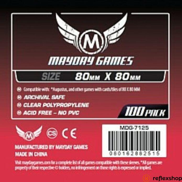 Mayday Games Közepes négyzet kártyavédő 80 x 80 mm (100 db-os csomag)