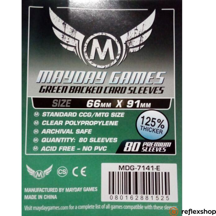 Mayday Games Kártyavédő kártyajátékokhoz (80 db-os csomag) 66 x 91 mm (zöld hátlap)
