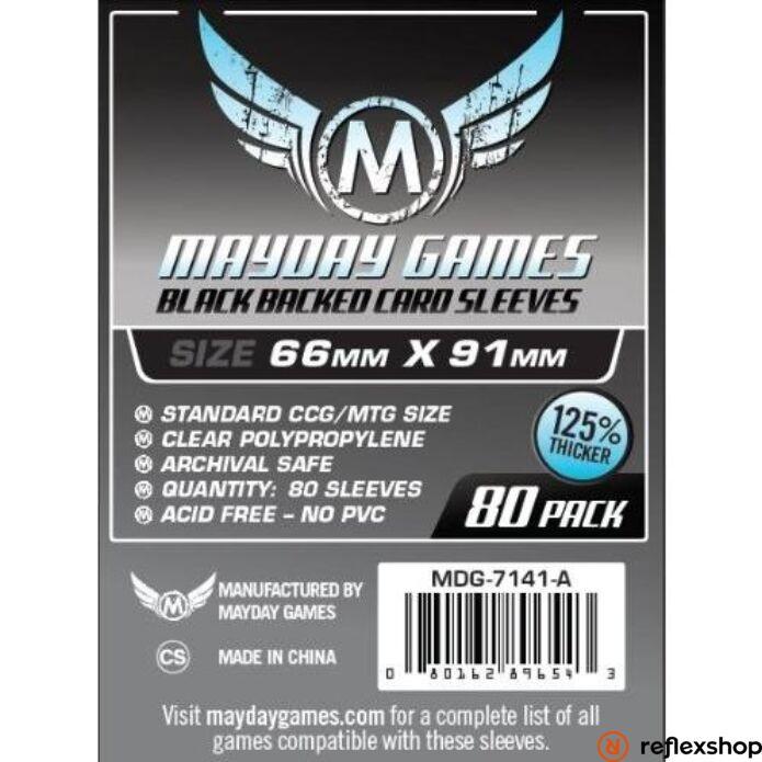 Mayday Games Kártyavédő kártyajátékokhoz (80 db-os csomag) 63.5 x 88 mm (fekete hátlap)
