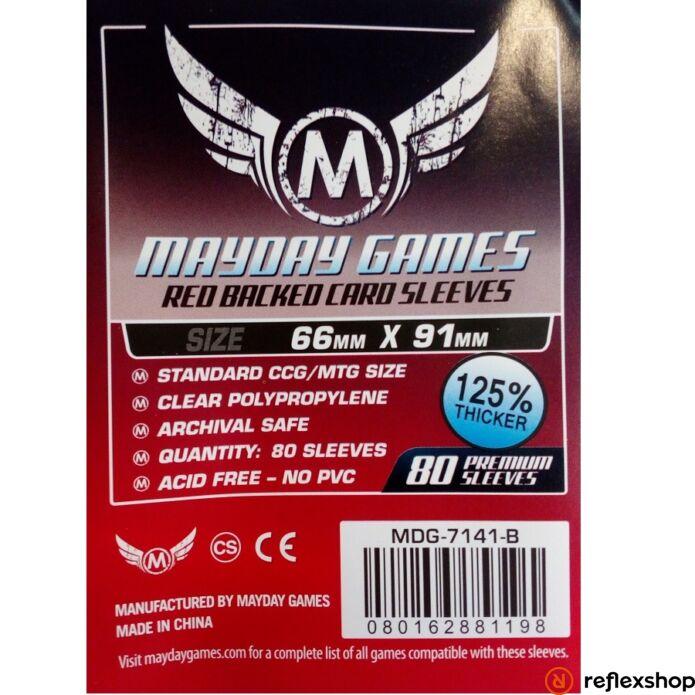 Mayday Games Kártyavédő kártyajátékokhoz (80 db-os csomag) 66 x 91 mm (piros hátlap)