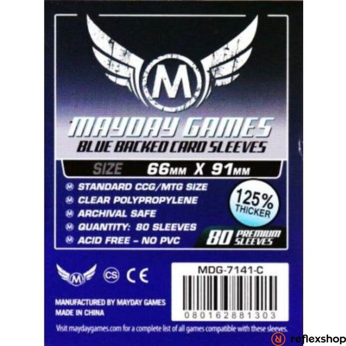 Mayday Games Kártyavédő kártyajátékokhoz (80 db-os csomag) 66 x 91 mm (kék hátlap)