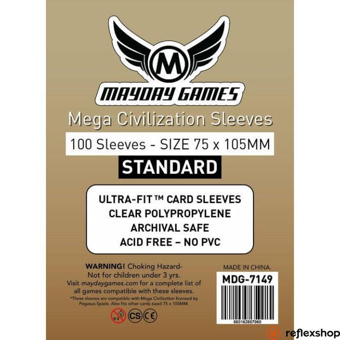 Mayday Games Mega Civilization kártyavédő 75 x 105 mm (100 db-os csomag)