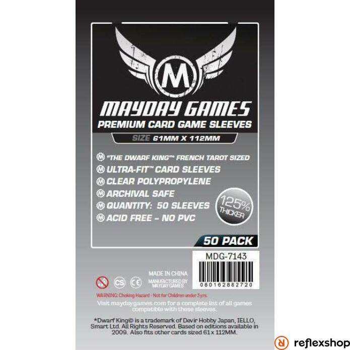 Mayday Games Prémium Magnum Platinum kártyavédő 61 x 112 mm