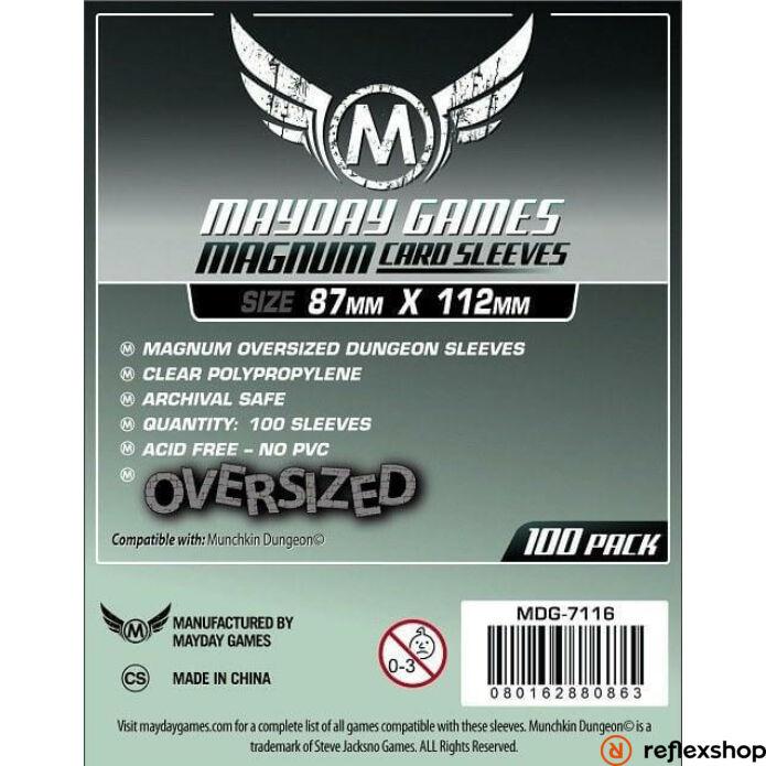 Mayday Games Magnum Oversized Dungeon kártyavédő 87 x 112 mm (100 db-os csomag)