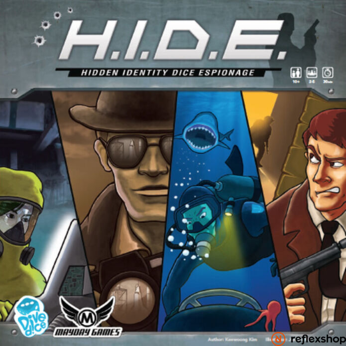 H.I.D.E. Hidden Identity Dice Espionage angol nyelvű társasjáték
