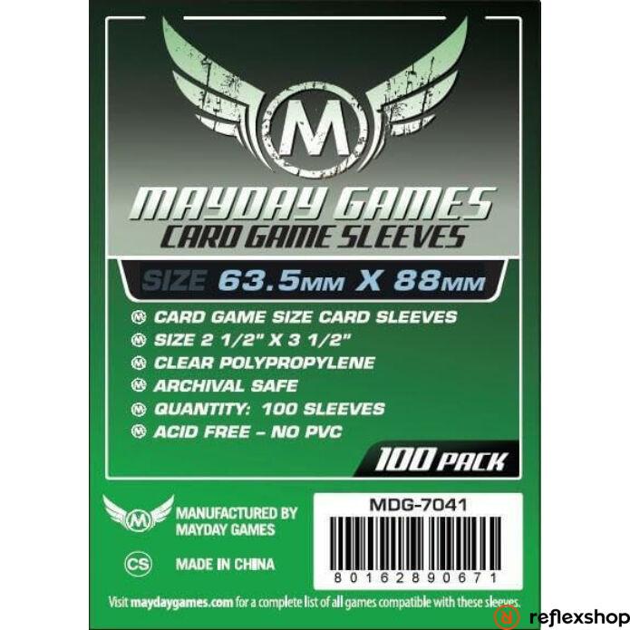 Mayday Games Kártyavédő kártyajátékokhoz (100 db-os csomag) 63.5 mm x 88 mm